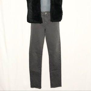 Paige dark gray mid rise skyline skinny jeans